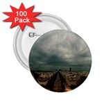 Gothic City Landscape and Storm Clouds 2.25  Button (100 pack)