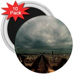 Gothic City Landscape and Storm Clouds 3  Magnet (10 pack)