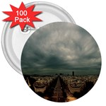 Gothic City Landscape and Storm Clouds 3  Button (100 pack)