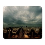 Gothic City Landscape and Storm Clouds Large Mousepad
