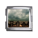 Gothic City Landscape and Storm Clouds Mega Link Italian Charm (18mm)