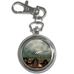 Gothic City Landscape and Storm Clouds Key Chain Watch
