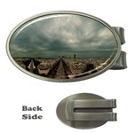 Gothic City Landscape and Storm Clouds Money Clip (Oval)
