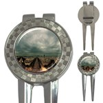 Gothic City Landscape and Storm Clouds 3-in-1 Golf Divot