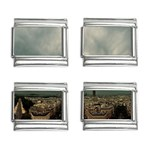 Gothic City Landscape and Storm Clouds 9mm Italian Charm (4 pack)