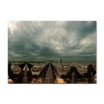 Gothic City Landscape and Storm Clouds Sticker (A4)