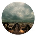 Gothic City Landscape and Storm Clouds Magnet 5  (Round)