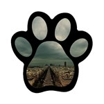 Gothic City Landscape and Storm Clouds Magnet (Paw Print)