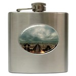 Gothic City Landscape and Storm Clouds Hip Flask (6 oz)