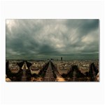 Gothic City Landscape and Storm Clouds Postcard 5  x 7