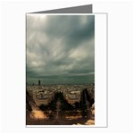 Gothic City Landscape and Storm Clouds Greeting Card