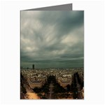 Gothic City Landscape and Storm Clouds Greeting Cards (Pkg of 8)