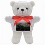 Gothic City Landscape and Storm Clouds Teddy Bear