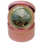 Gothic City Landscape and Storm Clouds Jewelry Case Clock