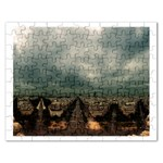 Gothic City Landscape and Storm Clouds Jigsaw Puzzle (Rectangular)