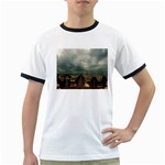 Gothic City Landscape and Storm Clouds Ringer T