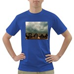 Gothic City Landscape and Storm Clouds Dark T-Shirt