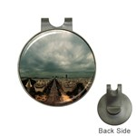 Gothic City Landscape and Storm Clouds Golf Ball Marker Hat Clip