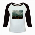 Gothic City Landscape and Storm Clouds Kids Baseball Jersey