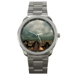 Gothic City Landscape and Storm Clouds Sport Metal Watch