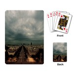 Gothic City Landscape and Storm Clouds Playing Cards Single Design