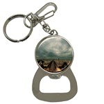 Gothic City Landscape and Storm Clouds Bottle Opener Key Chain