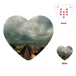 Gothic City Landscape and Storm Clouds Playing Cards (Heart)