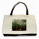 Gothic City Landscape and Storm Clouds Classic Tote Bag