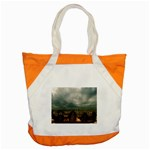 Gothic City Landscape and Storm Clouds Accent Tote Bag