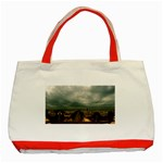 Gothic City Landscape and Storm Clouds Classic Tote Bag (Red)
