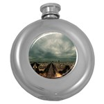 Gothic City Landscape and Storm Clouds Hip Flask (5 oz)