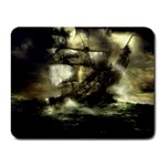 Dark Gothic Pirate Ship at Sea Fantasy Small Mousepad