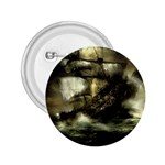 Dark Gothic Pirate Ship at Sea Fantasy 2.25  Button