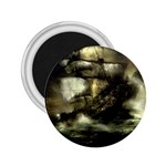 Dark Gothic Pirate Ship at Sea Fantasy 2.25  Magnet
