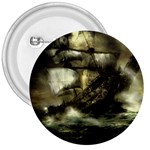 Dark Gothic Pirate Ship at Sea Fantasy 3  Button