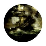 Dark Gothic Pirate Ship at Sea Fantasy Ornament (Round)
