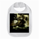 Dark Gothic Pirate Ship at Sea Fantasy Bib