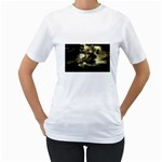 Dark Gothic Pirate Ship at Sea Fantasy Women s T-Shirt