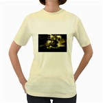 Dark Gothic Pirate Ship at Sea Fantasy Women s Yellow T-Shirt