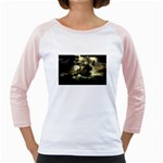Dark Gothic Pirate Ship at Sea Fantasy Girly Raglan