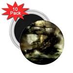Dark Gothic Pirate Ship at Sea Fantasy 2.25  Magnet (10 pack)