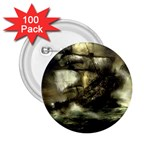 Dark Gothic Pirate Ship at Sea Fantasy 2.25  Button (100 pack)