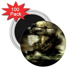 Dark Gothic Pirate Ship at Sea Fantasy 2.25  Magnet (100 pack)