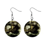 Dark Gothic Pirate Ship at Sea Fantasy 1  Button Earrings