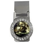 Dark Gothic Pirate Ship at Sea Fantasy Money Clip (CZ)