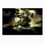 Dark Gothic Pirate Ship at Sea Fantasy Postcard 4 x 6  (Pkg of 10)