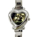 Dark Gothic Pirate Ship at Sea Fantasy Heart Italian Charm Watch