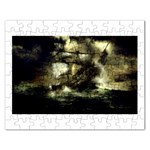 Dark Gothic Pirate Ship at Sea Fantasy Jigsaw Puzzle (Rectangular)