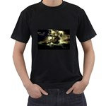 Dark Gothic Pirate Ship at Sea Fantasy Black T-Shirt