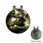 Dark Gothic Pirate Ship at Sea Fantasy Golf Ball Marker Hat Clip